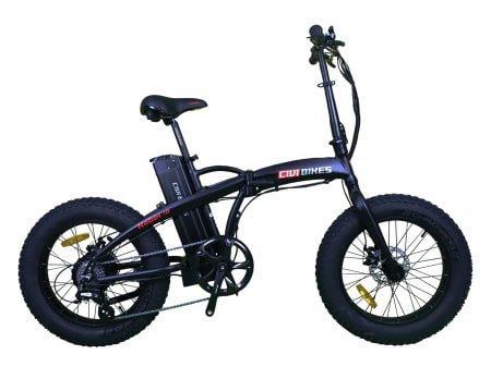 Ceci est une image du vélo électrique pliant CIVI BIKES 500W Rebel 1.0 Fat Tire /