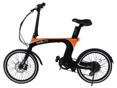 Voici une photo du vélo électrique pliant Green Bike 350W GB Carbon Light.