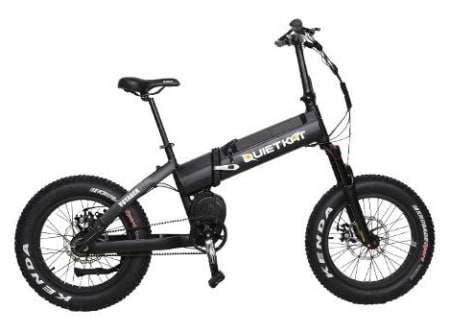 Voici une photo du vélo électrique pliant QuietKat Voyager 750.