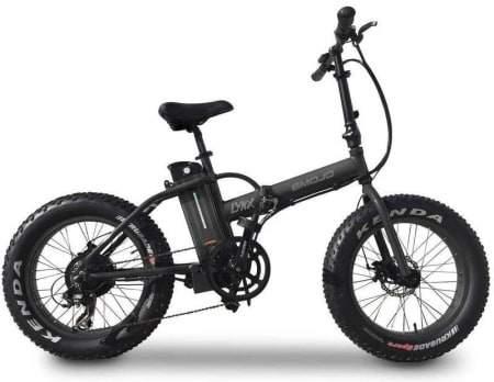 Voici une photo du vélo électrique pliant E-Mojo 500W Lynx Fat Tire.