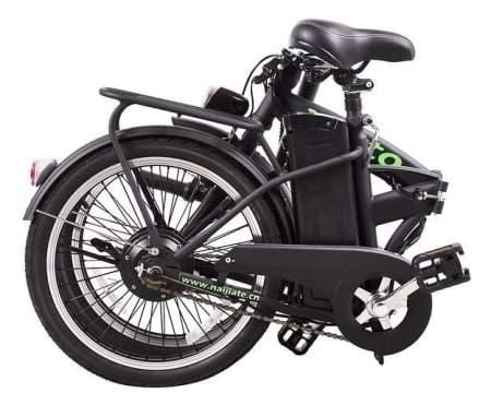 Ceci est une photo du vélo électrique pliant Nakto 250W Fashion plié.