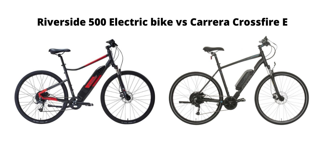 Comparaison entre le vélo électrique Riverside 500 et le carrera crossfire e