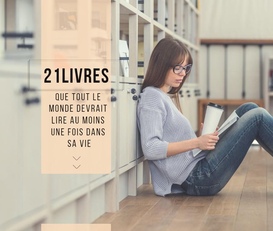 21livres que tout le monde devrait lire au moins une fois dans sa vie